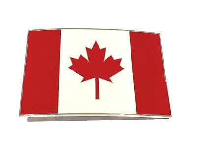 New CANADA Flag Belt Buckle Maple Leaf Proud To Be Canadian