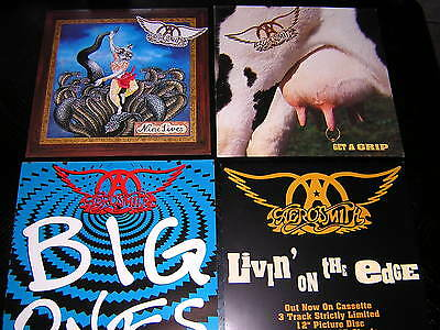2 Aerosmith Album Sleeves - + 2 Promtional 12X12 Cards
