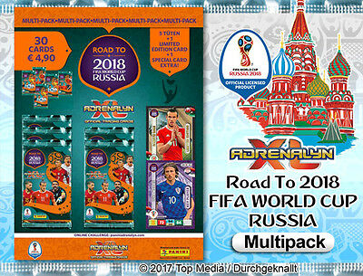 Panini Adrenalyn XL Road to 2018 World Cup Russia 5 x Multipack Limited Edition