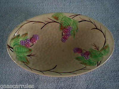 Vintage Wade Bramble England Small Oblong Bowl
