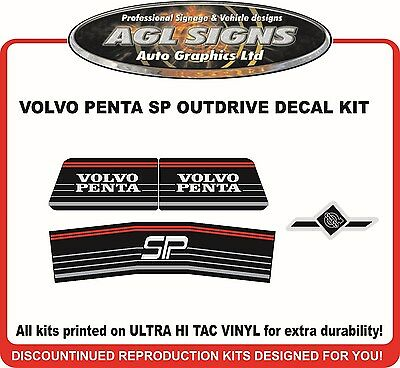 VOLVO PENTA SP Stern Drive Reproduction Outdrive Decal Kit