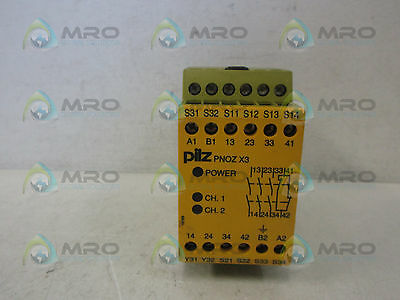 Pilz Pnozx33S1O Safety Relay *new No Box*