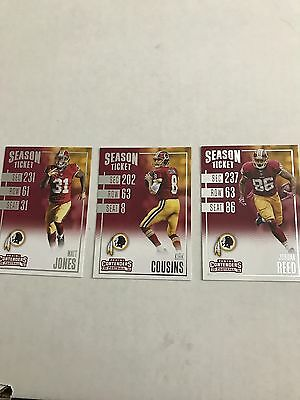 Lot of 3 washington redskins 2016 panini contenders cards