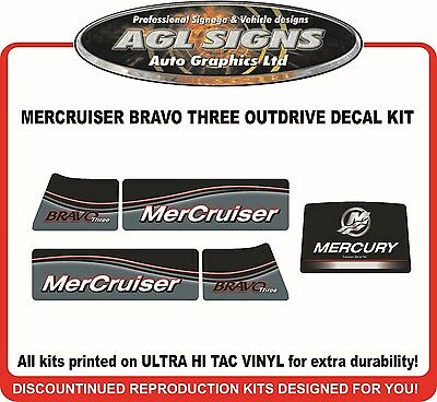 Mercury Bravo THREE Outdrive Decal Kit   Mercruiser Diesel Azius