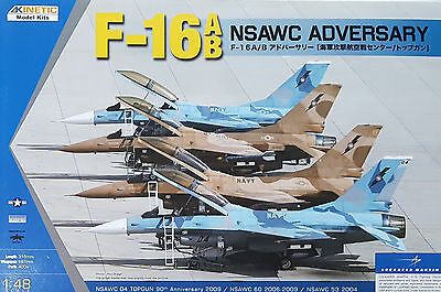 KINETIC 48004 US Navy F-16A/B NSAWC Adversary in 1:48
