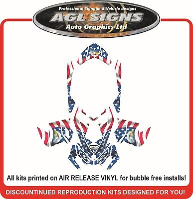 USA PATRIOT SLED WRAP  for SKI-DOO XP 2008 - 2012, mxz summit renegade, decal