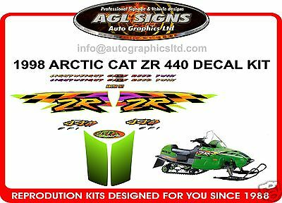 1998 ARCTIC CAT ZR 440 efi DECAL KIT , reproductions 600 500