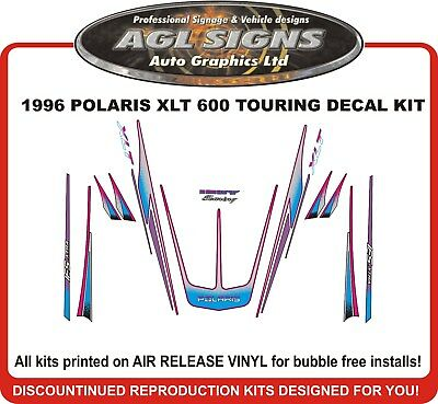 1996 POLARIS XLT TOURING 600  DECAL KIT INDY INCLUDES TONNEAU shroud  graphic