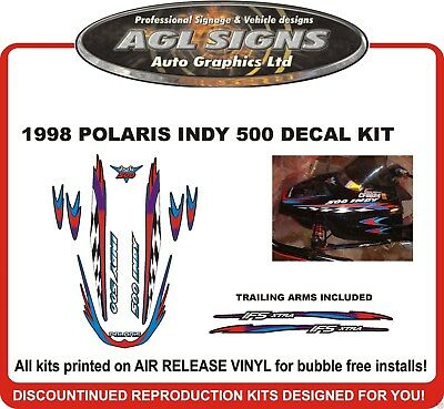 1998 POLARIS INDY 500 DECAL KIT graphics reproduction