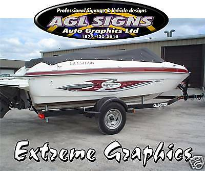 Huge Boat Graphic Stripe 3D Extreme Metal Look