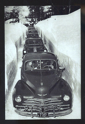 Real Photo Pocatello Idaho 1952 Blizzard Snow Storm Cars Postcard Copy