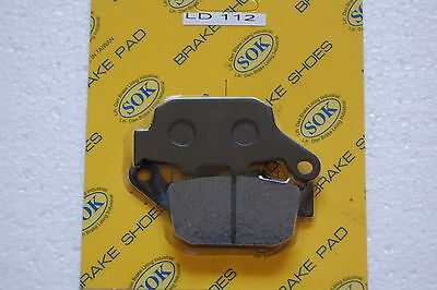 REAR BRAKE PADS fits HONDA NX 650 Dominator, 95-96 NX650 RD08
