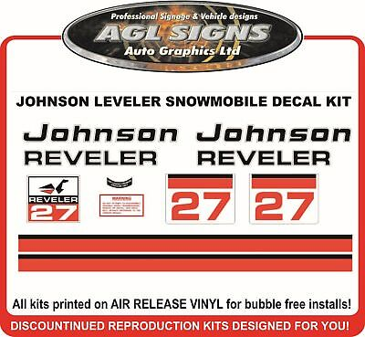 1972 1973  JOHNSON REVELER 27  DECAL KIT  REPRODUCTION also 30 and 21 hp
