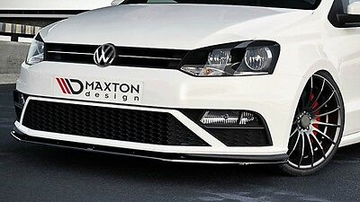 VW POLO MK5 GTI Facelift Cup Spoilerlippe Front Spoiler Diffusor Schwarz Glanz