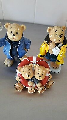 RNLI LIFEBOAT  family of bears quality