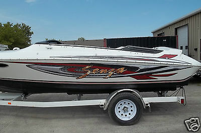HUGE BOAT GRAPHIC STRIPE 3D METAL LOOK  Fits Larson Senza