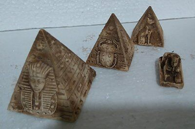 3 Egyptian Pyramids Sphinx Made From Stone in Egypt (Design May Vary)
