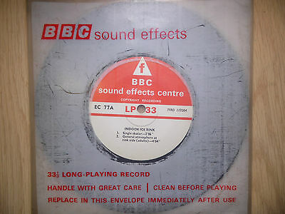 "BBC Sound Effects 7"" Record - Indoor Ice Rink, Atmos, Etc, EC77A"