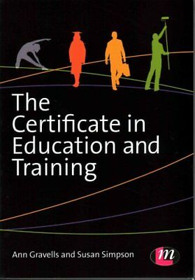 The Certificate in Education and Training by Ann Gravells 9781446295885