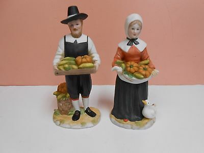 "1998 Home Interiors ""Rewards of the Harvest"" Thanksgiving Figurines #14370"