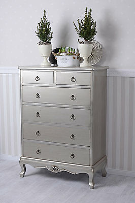 FRENCH ROCOCO CHEST OF Drawers COMTESSE Of BARRY Wardrobe Silver drawers