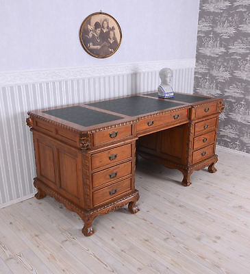 Desk Desk Colonial Style Executive Desk Mahogany