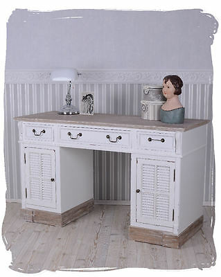 Desk Country house style Computer table white Writing furniture Shabby Chic