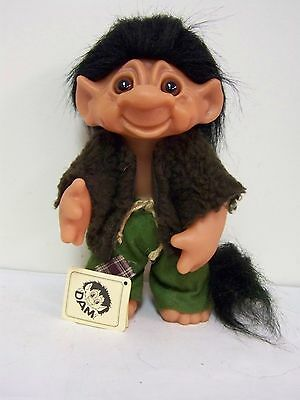 Dam  Forest / Woodland  Troll Boy  With Tail & Small Point Pointed Ears  & Tag