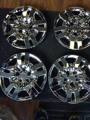 """4-16"""" Nissan Altima 2009 2010 2011 Hub Caps Hubcaps Wheelcovers Chrome"""