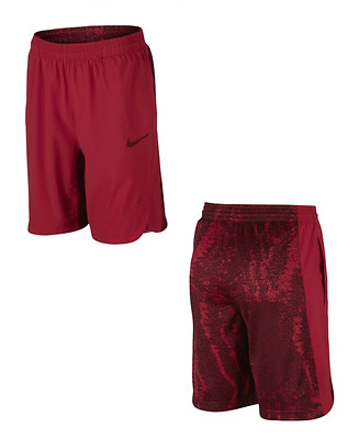 Brand NEW - NIKE Boys Lebron Hyperelite Athletic Sports Shorts - Red MSRP $40.00