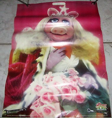"""The Muppets-Miss Piggy """"The Muppet Movie"""" Vintage 1979 Poster HENSON SCANDECOR!"""