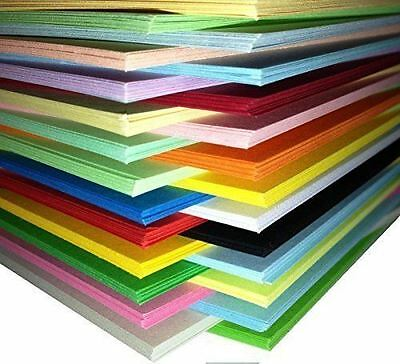Pack of 250 Sheets Coloured Card A4 Assorted Colours 160gsm