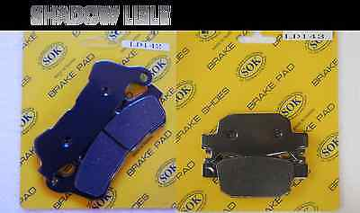 FRONT REAR BRAKE PADS fits HONDA NSS 300 Forza, 14-15 NSS300 NSS300A