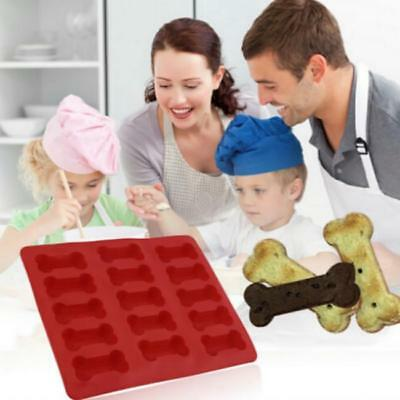 Kitchen Dog Treats Silicone Cookie Cake Pan Mold Bone-Shaped and Paw Prints - LD