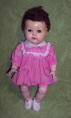 """Vintage 1950's American Character Tiny Tears 15"""" Baby Doll Rock-a-bye Eyes GUC"""