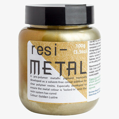 Resi-Metal : Pigment Paste For Resin : 100g : Golden Lustre