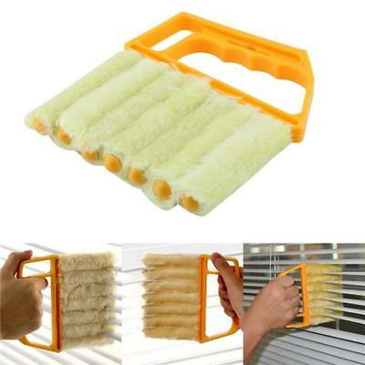 Microfibre Venetian Blind Brush Window Air Conditioner Duster Dirt Cleaner BS