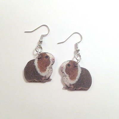 Guinea Pig Cavie Earrings Handmade Plastic Made in USA