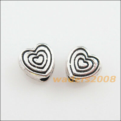 30 New Charms Tibetan Silver Tone Lovely Tiny Heart Spacer Beads 6mm