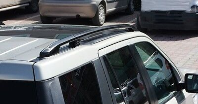 Freelander2 year from 07 -> ALUMINUM ROOF RAILS in black TÜV certified/ABE