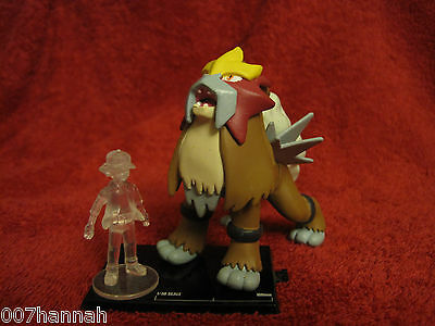 Pokemon-Figur-Set:Entei+Ash/10th Anniversary/Scale 1:30/Zukan/Yujin/F35