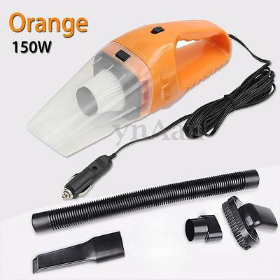 Portable 12V 150W Handheld Cyclonic Car Vacuum Cleaner Wet/Dry Duster Collector