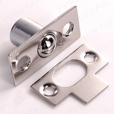 NICKEL BALES DOOR CATCH Small 16mm Cupboard/Frame Roller Ball Mortice Latch Lock