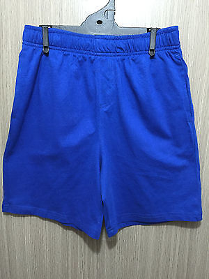 BNWT Kids Sz 12 Target Royal Blue Elastic Waist School Sports Rugby Knit Shorts
