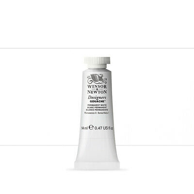 Winsor & Newton : Designer Gouache Paint : 14ml : Permanent White