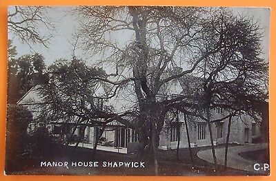 RP Postcard c.1910 THE MANOR HOUSE SHAPWICK Nr GLASTONBURY SOMERSET