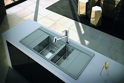 Clearwater Xeron 100 Single Bowl Right Drainer Kitchen Sink Inc Waste Kit