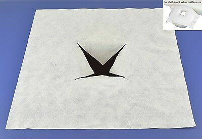 bodyworkzone DELUXE DISPOSABLE MASSAGE TABLE FACE HOLE COVERS, Pk of 100 or 200