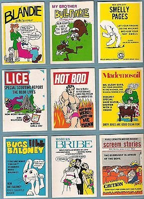 1974 Fleer Crazy Magazine Covers Series 2 & 3  Complete Sticker Set 40/40 EX