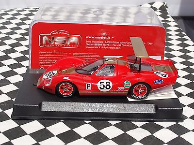 Nsr P68 Alan Mann #58 Limited Edition Red  Boac 500 1969 1146Sw 1:32 Slot Bnib